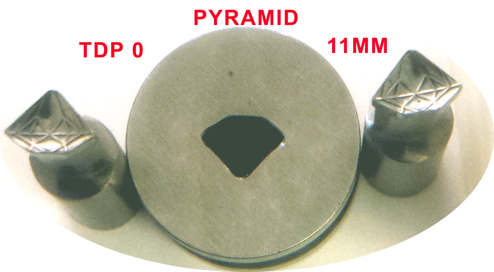 Pyramid Shape Round Steel 8mm Complete Set